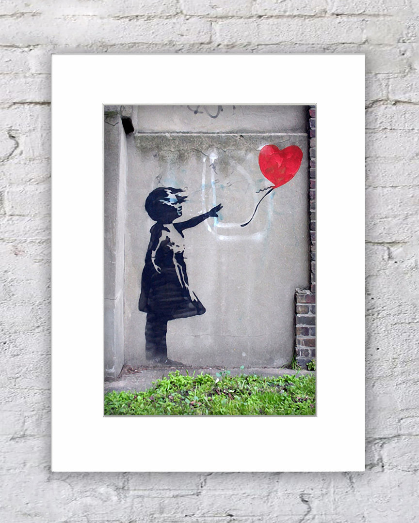 Banksy Balloon Girl Heart Colour