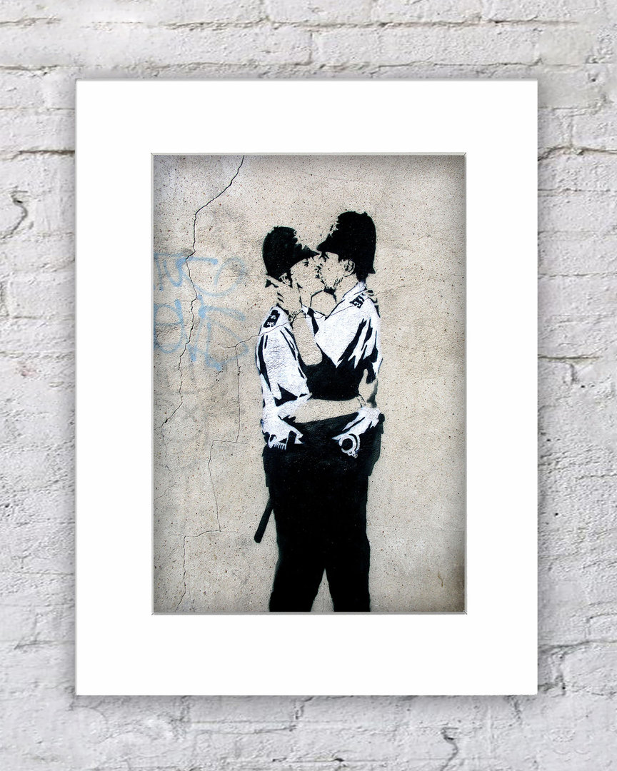 Banksy Kissing Coppers Male
