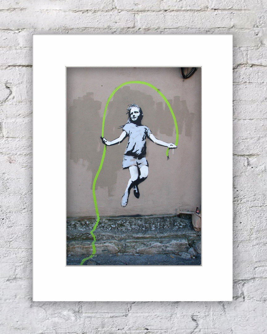 Banksy Skipping Girl