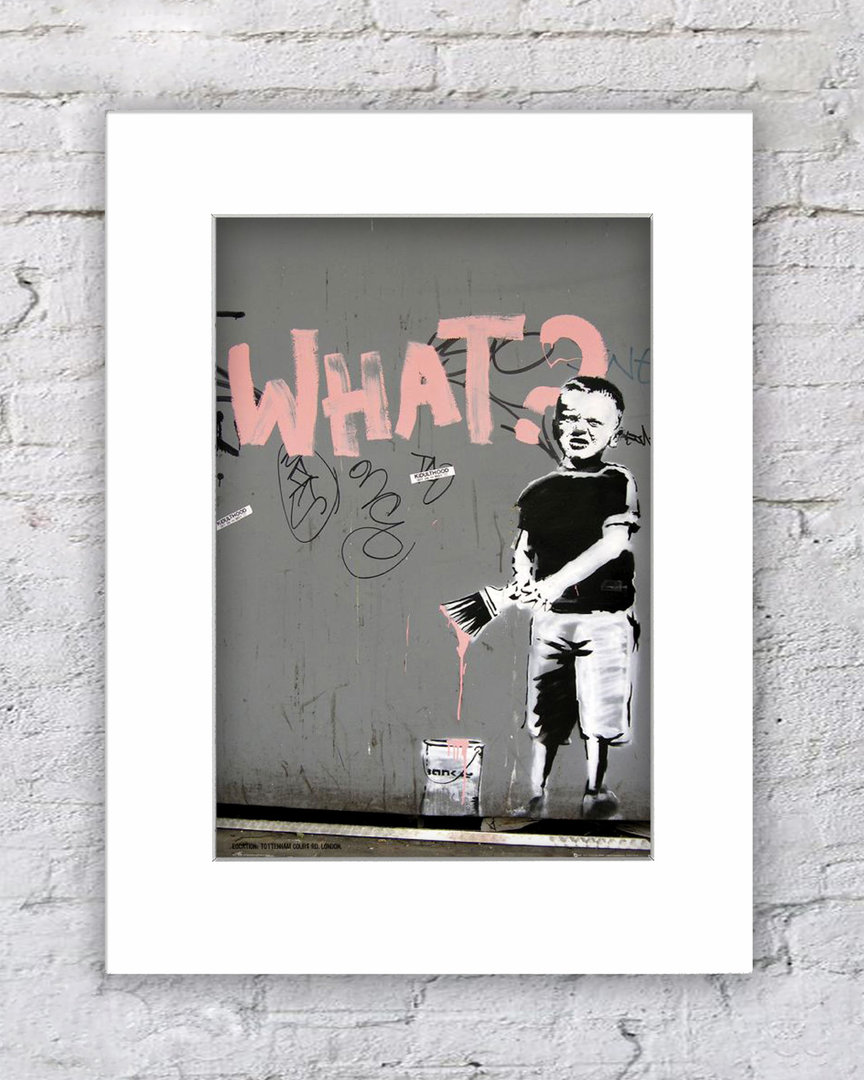 Banksy What ? Boy Paintbrush