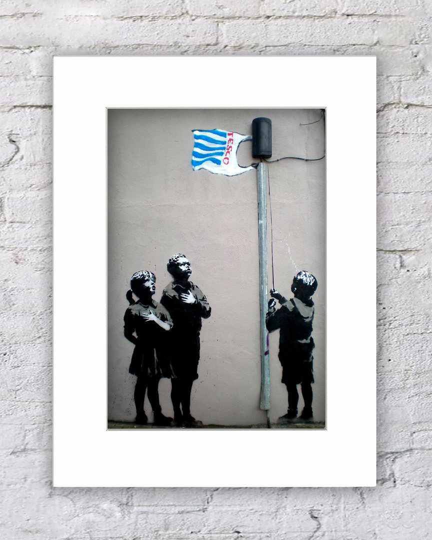 Banksy Tesco Flag Kids