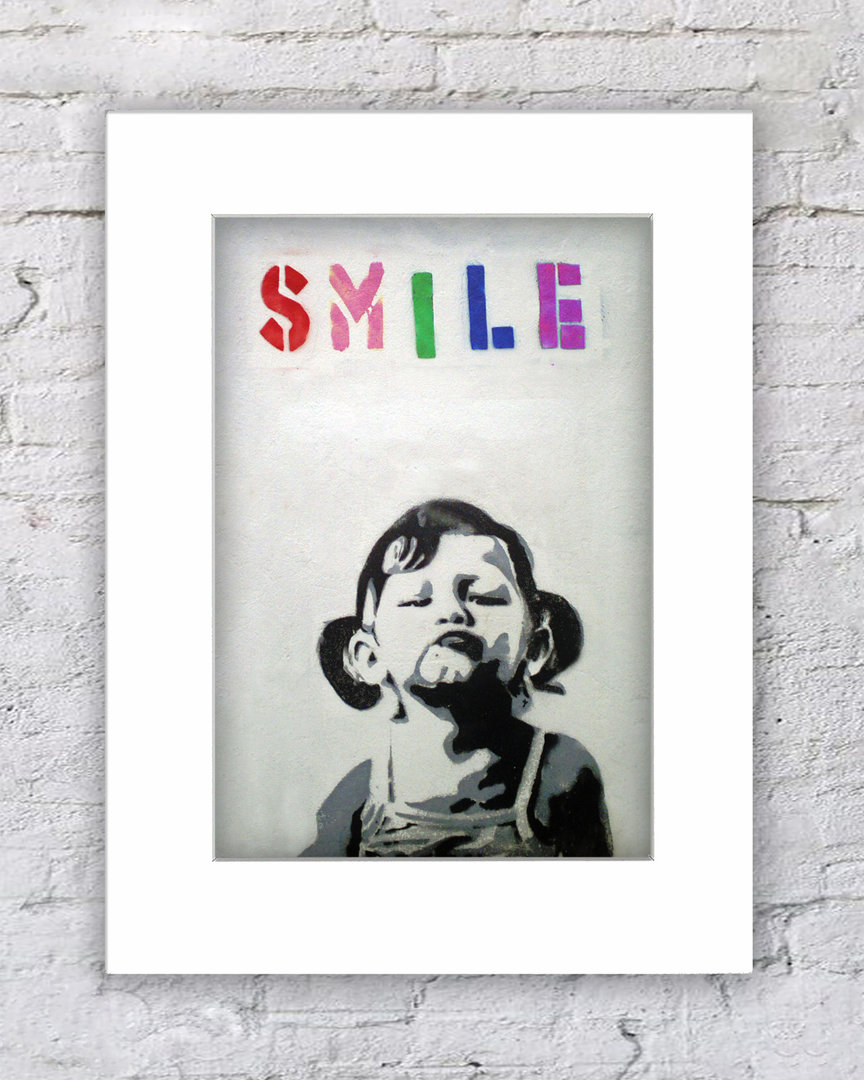 Banksy Smile Girl