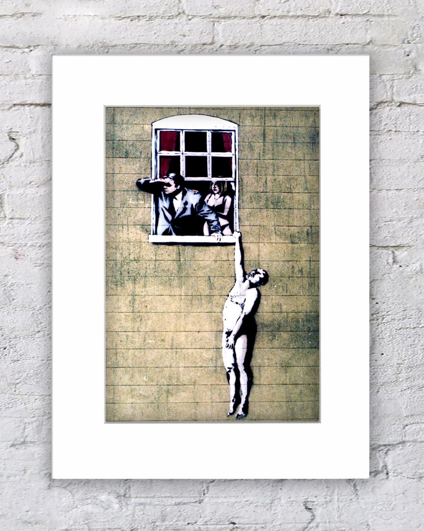 Banksy Hanging Man Love Cheat