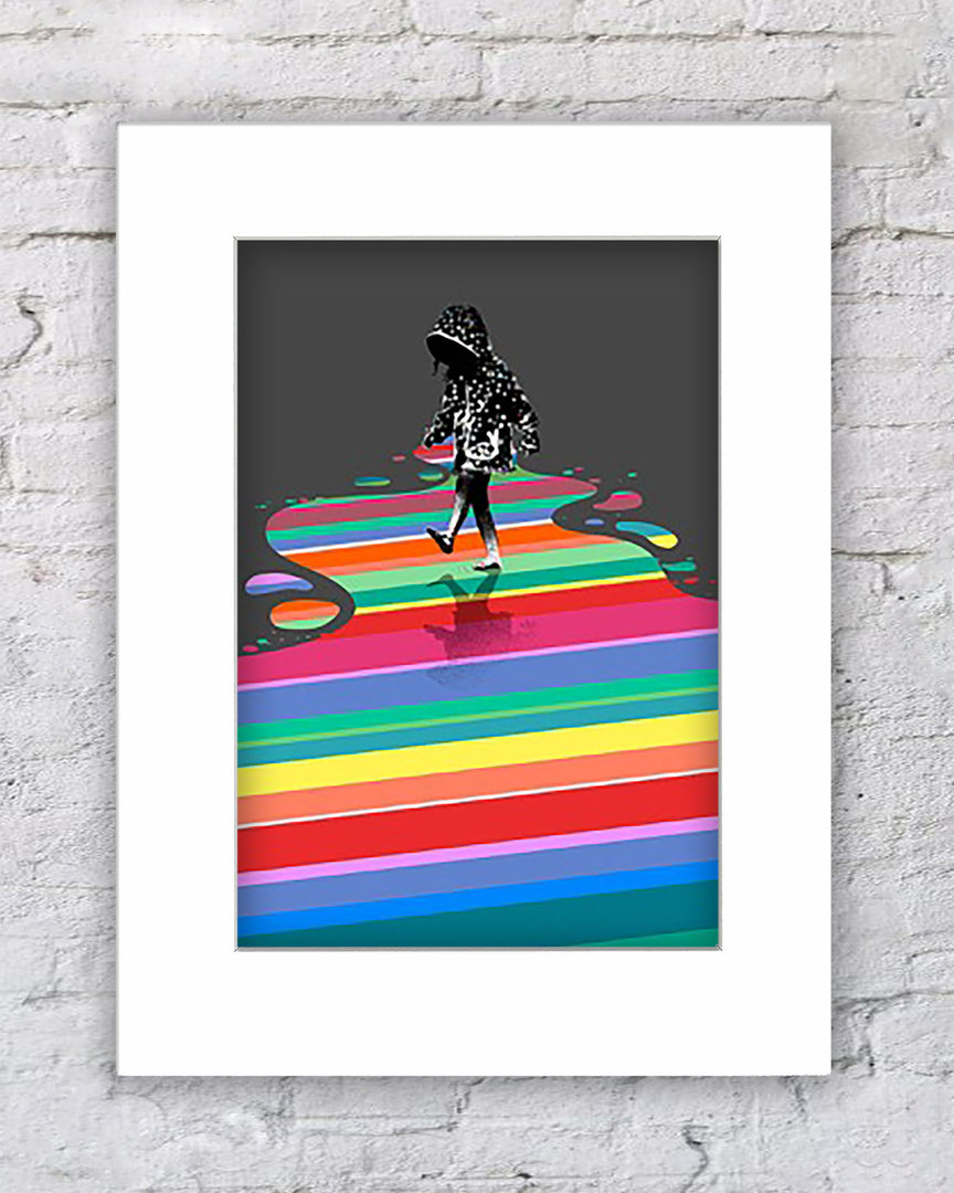 Banksy Rainbow Pool Girl
