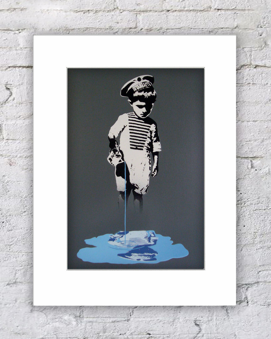 Banksy Boy Blue Paint Sailers Hat