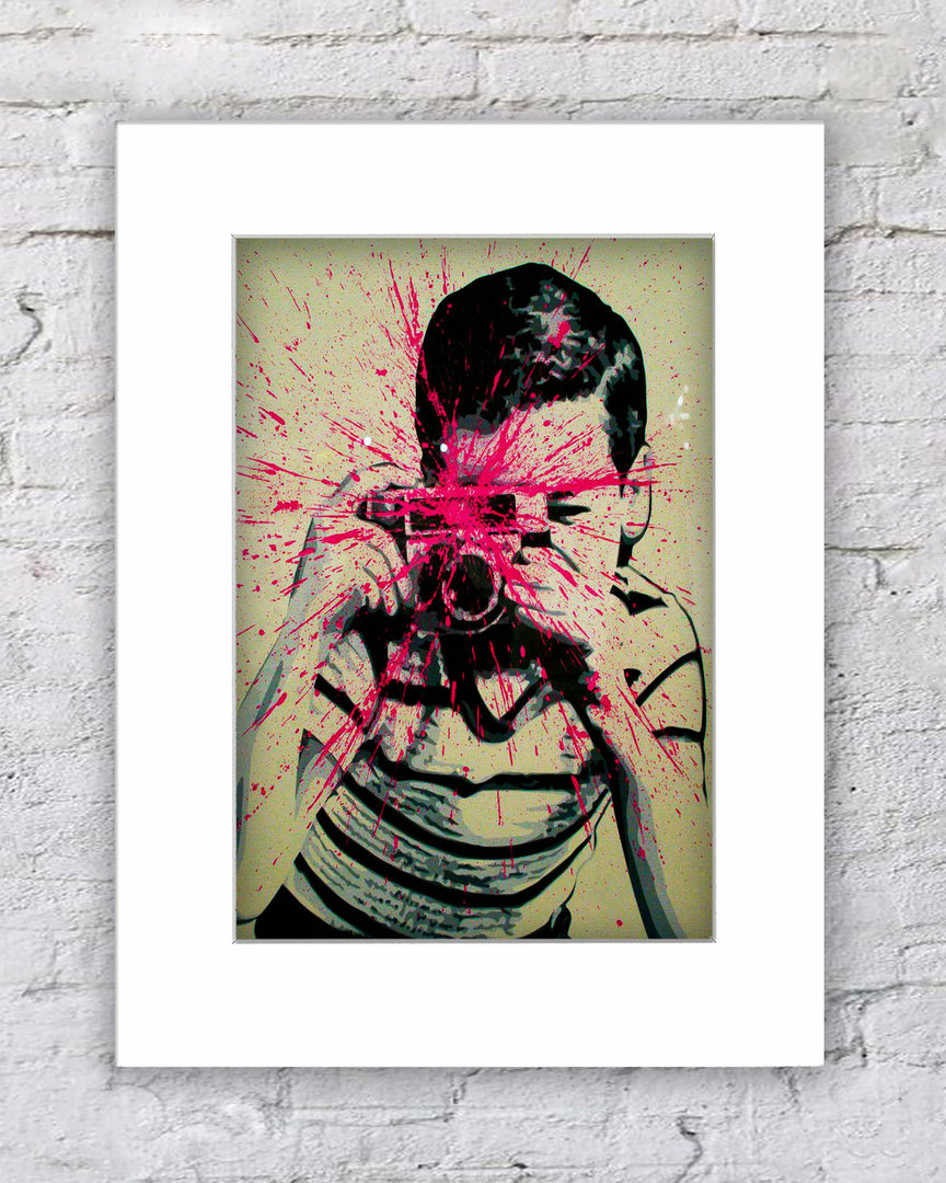 Banksy Camera Splash Boy