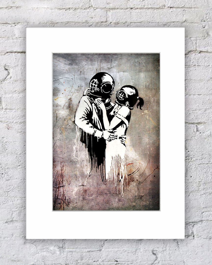 Banksy Couple Divers Helmets