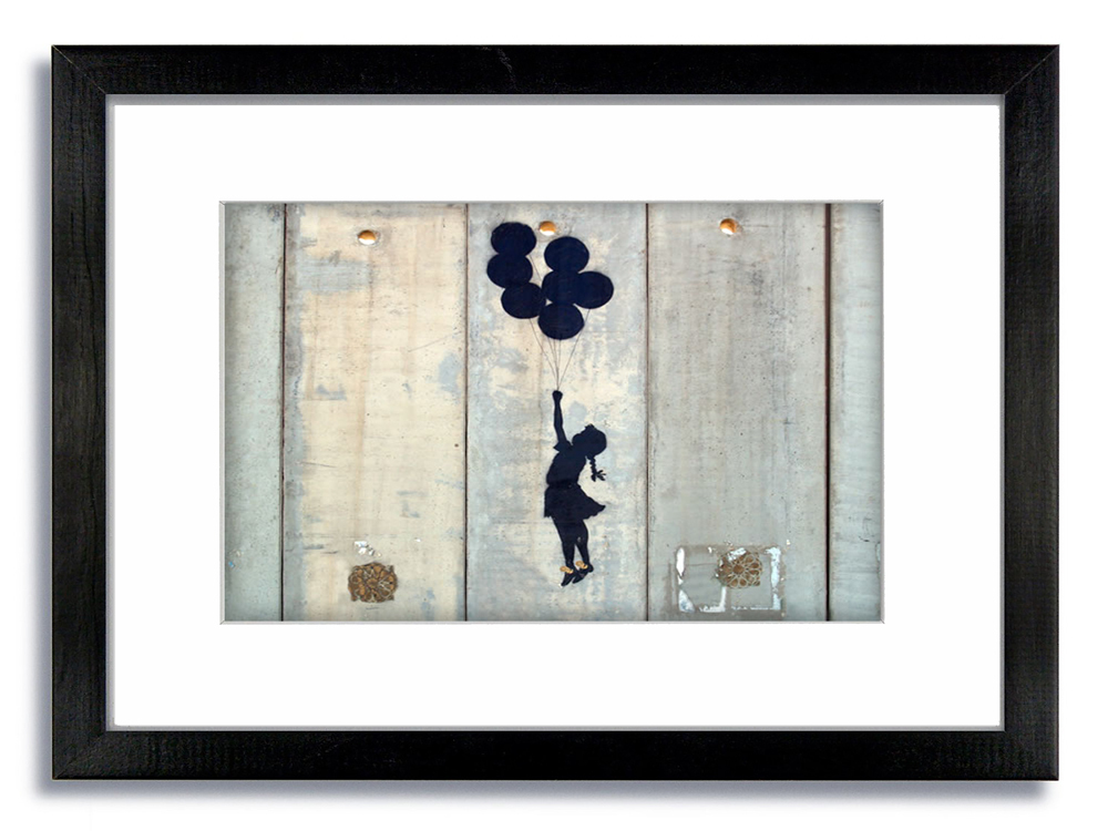 Banksy Gaza Girl Balloons Framed Mounted Print