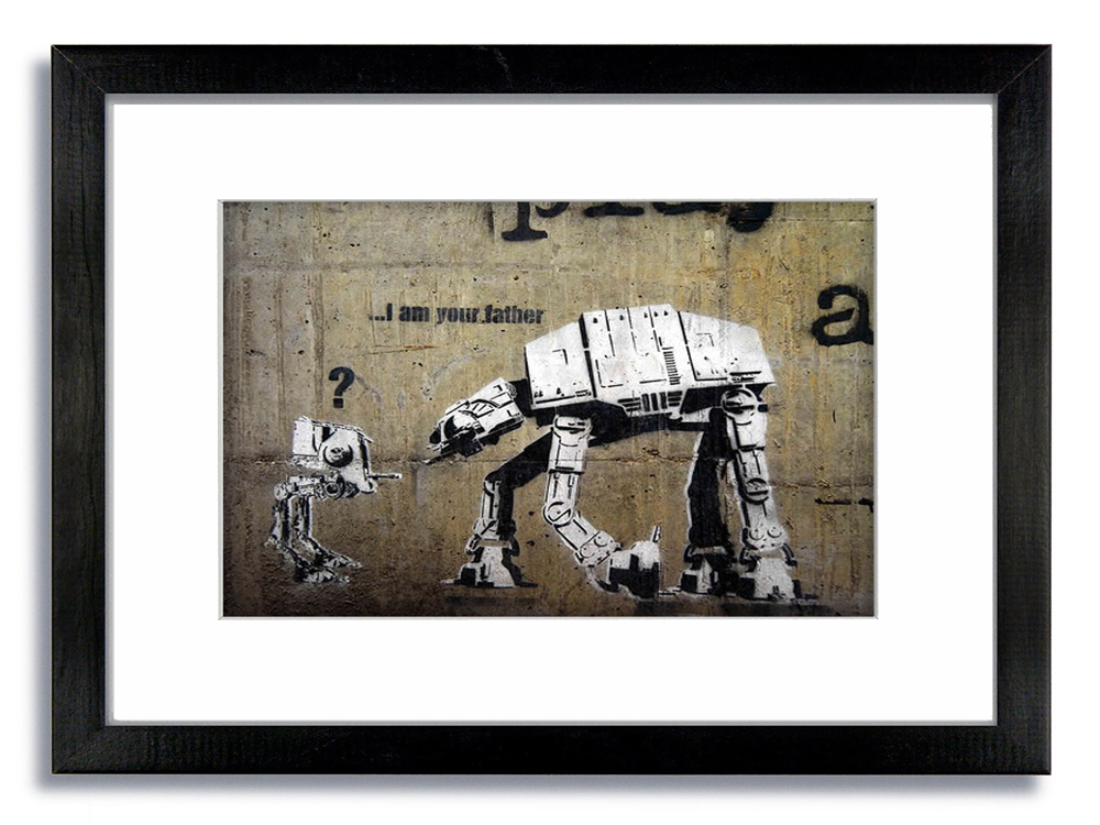 Banksy I am Your Father Left Framed Mounted Print