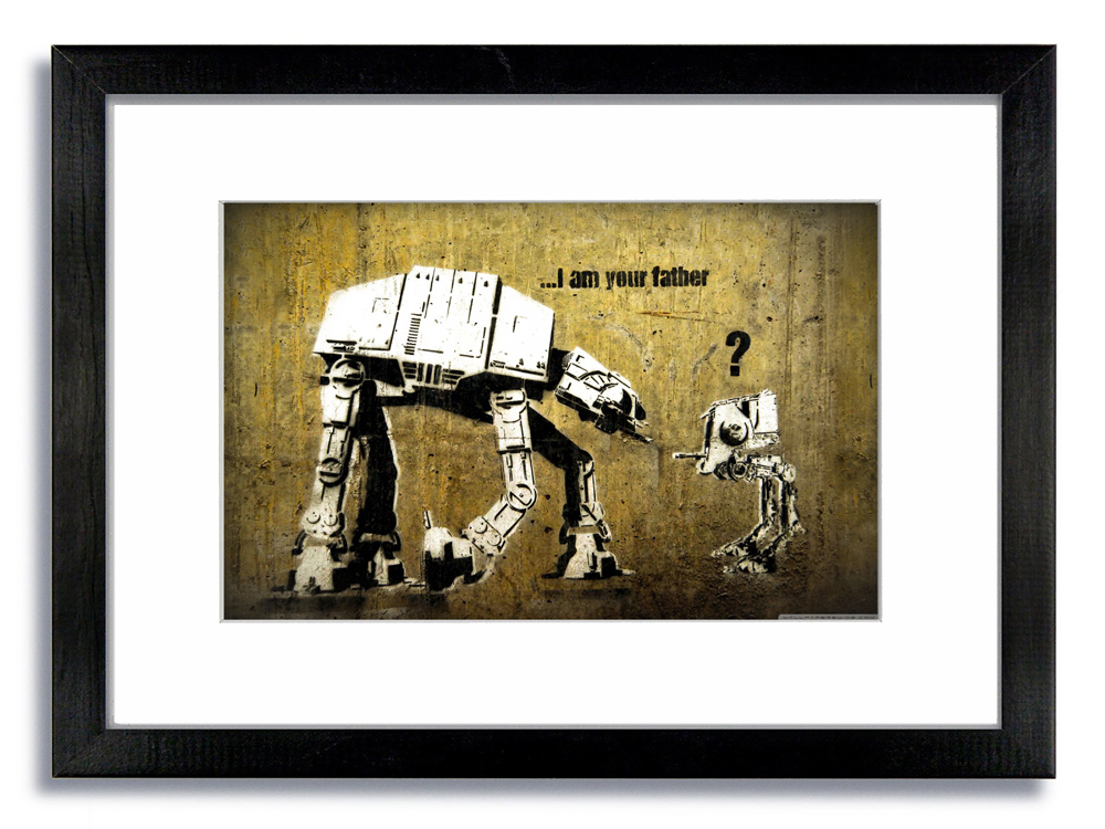 Banksy I am Your Father Right Framed Mounted Print