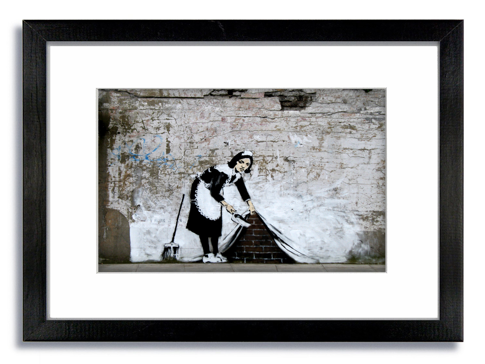 Banksy Camden Maid Sweeper Framed Mounted Print