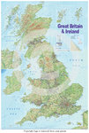 United Kingdom Map - 2015 Edition - Paper Poster