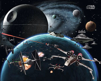 Star Wars - Planets - Space Wars - Mini Paper Poster