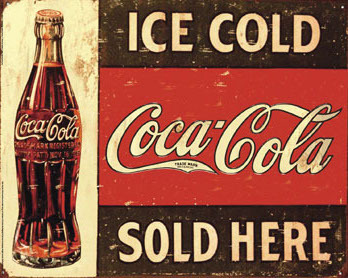 Coca Cola - Ice Cold Sold Here - Mini Paper Poster