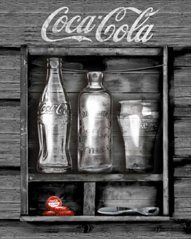 Coca Cola - Black Box - Mini Paper Poster