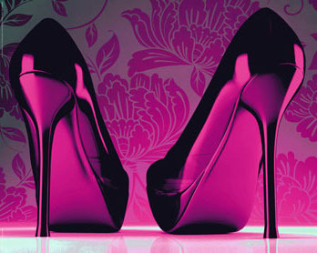 Shoes Purple - Funky - Mini Paper Poster