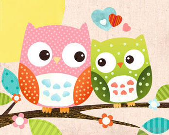 Sweet Owl - Hello - Mini Paper Poster