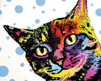 Dean Russo Art - The Pop Cat - Mini Paper Poster
