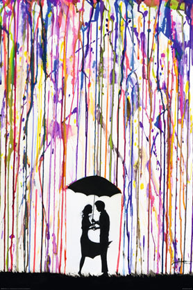 Marc Allante Trace Couple Umbrella - Maxi Paper Poster
