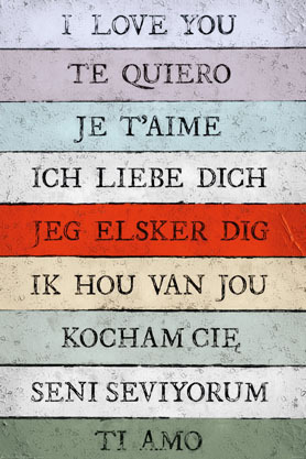 I Love You Languages  - Maxi Paper Poster