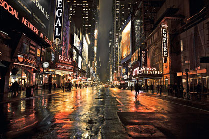 Manhattan 42nd Street Colour - Maxi Paper Poster