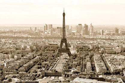 Paris In Sepia Cityview - Maxi Paper Poster