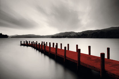 Wooden Landing Jetty Red - Maxi Paper Poster