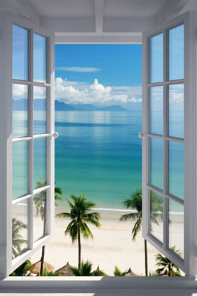 Beach Window - Maxi Paper Poster
