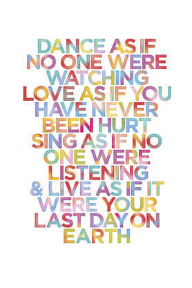 Huge Dance as if it was your last day on earth - Maxi Paper Poster