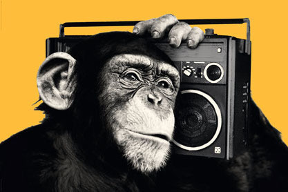 The Chimp Boombox Yellow - Maxi Paper Poster