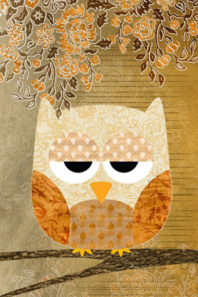 Sweet Owl Antique - Maxi Paper Poster