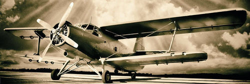 Ready To Fly Vintage Style Airplane - Door Paper Poster
