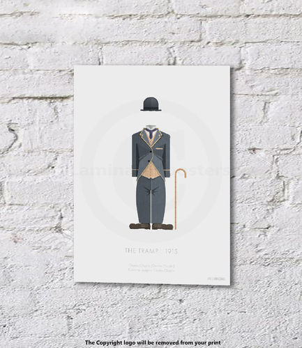 Charlie Chaplin - The Tramp - 1915 - Art Print