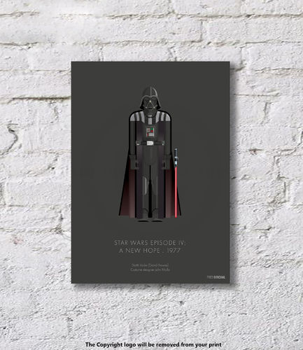 Darth Vader - Star Wars Episode IV - A New Hope - 1977 - Art Print