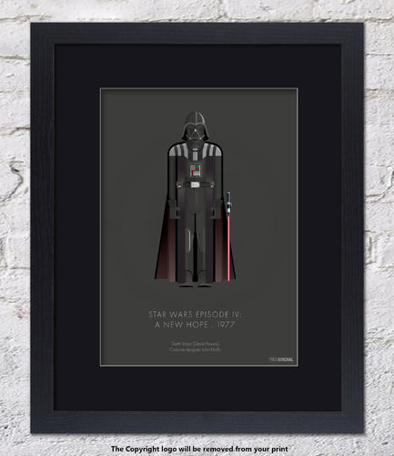 Darth Vader - Star Wars Episode IV - A New Hope - 1977 - Framed Black Mount
