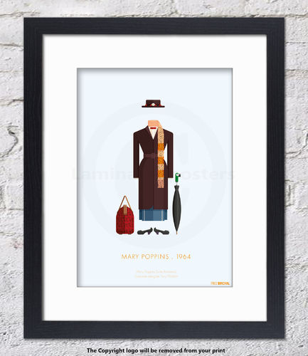 Mary Poppins - 1964 - Framed White Mount