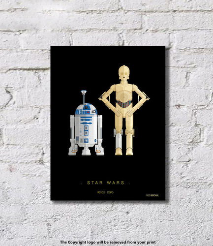 Star Wars - R2-D2 and C3PO - Art Print