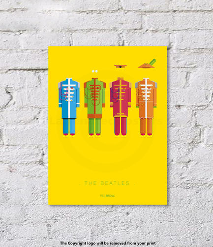 The Beatles - Sgt Pepper - Art Print