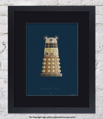 Doctor Who - Dalek - Framed Black Mount