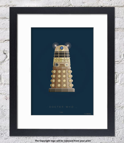 Doctor Who - Dalek - Framed White Mount