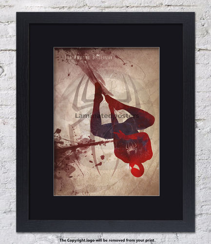 The Amazing Spiderman - Superhero  - Framed Black Mount