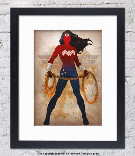 Wonder Woman - Framed White Mount