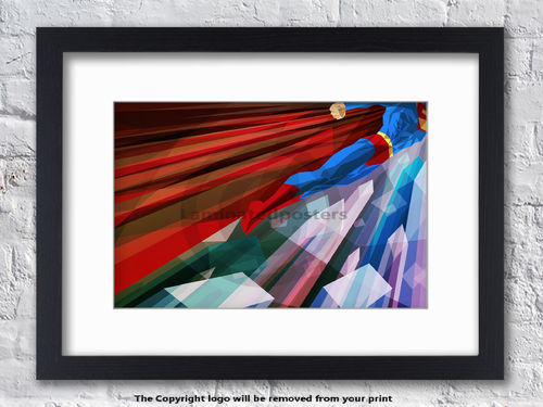 Superman - Man Up - Superhero - Framed White Mount