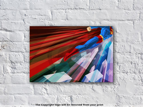 Superman - Man Up - Superhero - Art Print