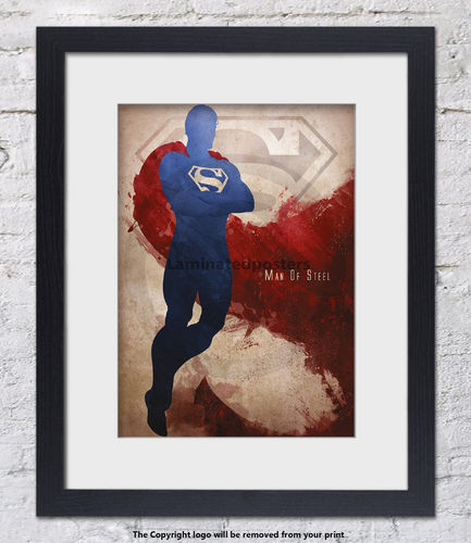 Superman - Son Of Krypton - Superhero - Framed White Mount