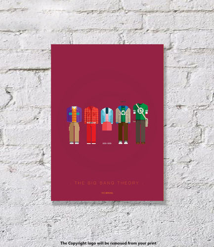 The Big Bang Theory - UNFRAMED - Art Print