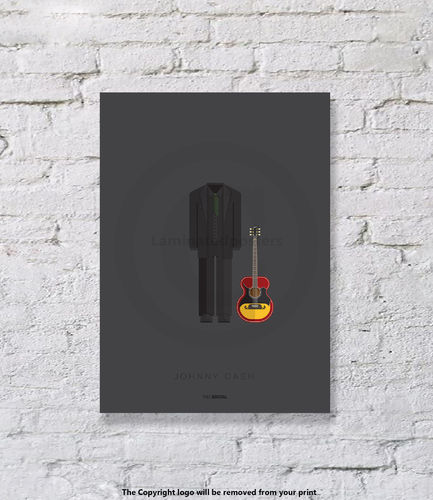 Johnny Cash- UNFRAMED - Art Print