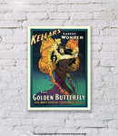 The Golden Butterfly Kellar - Art Print