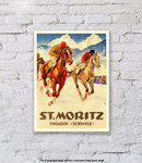 St.Moritz Winter Sports Horse - Art Print